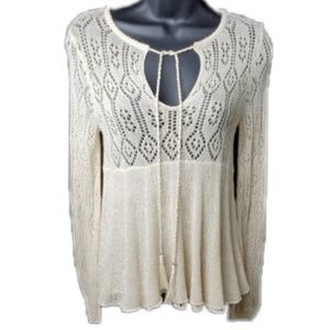 Free People Angel Days Lace Pullover NWT